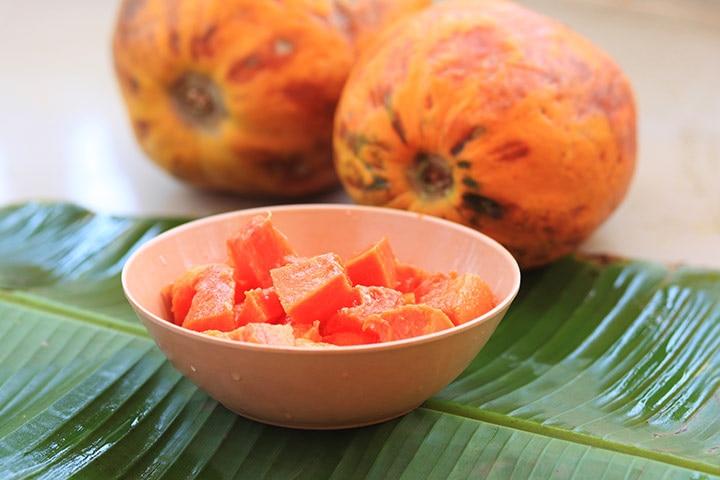 Ripened papaya