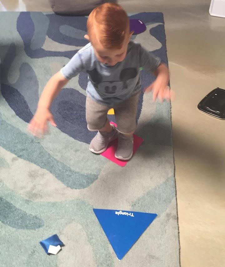 Stepping on shapes