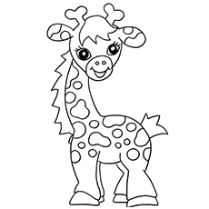 baby giraffe calf coloring page - Colouring Activities For Toddlers