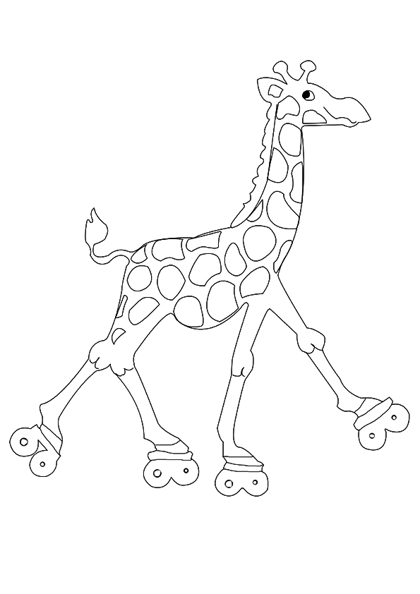 The-Giraffe-On-Roller-Skates