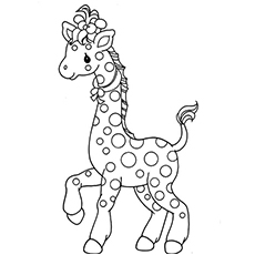 coloring pages of giraffe prancing