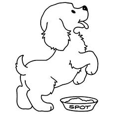 the hungry pup - Puppy Coloring Pages To Print Free