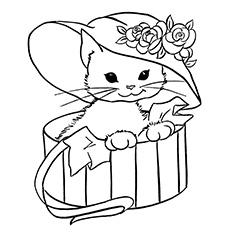 coloring pages of pretty miss kitty - Cat Coloring Pages Printable