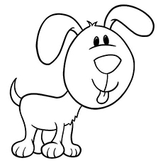 the pup with a large face - Puppy Coloring Pages