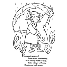 the rain rain go away - Weather Coloring Pages