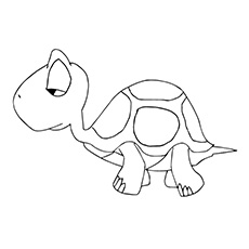 Sleepy Turtle to Color Free