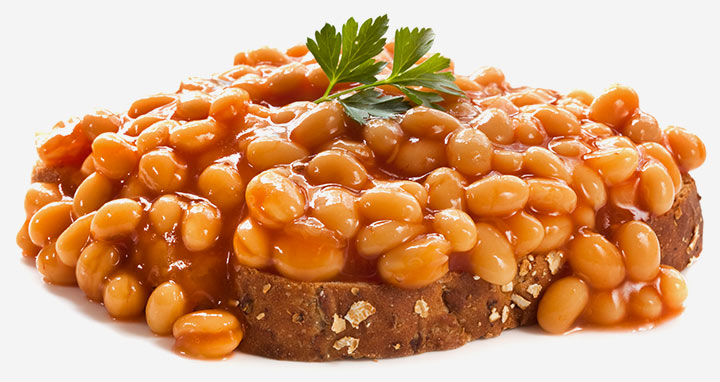 Wholemeal toast with baked beans