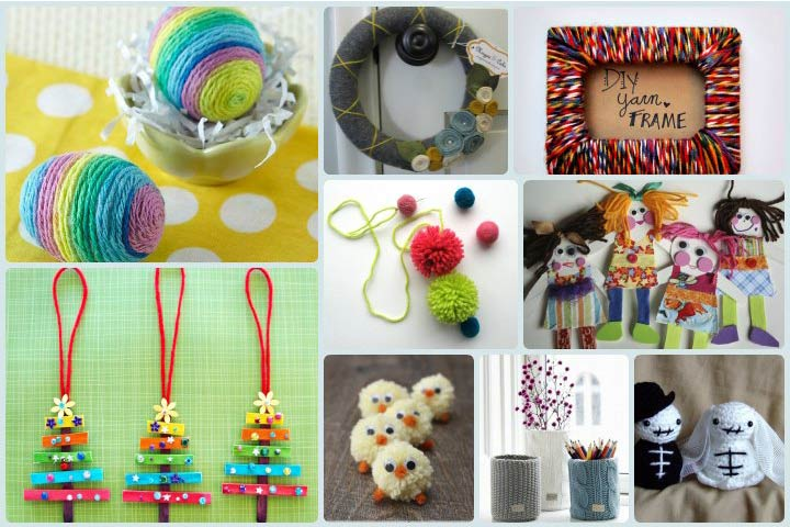 10 Easy And Simple Yarn Wool Crafts For Kids