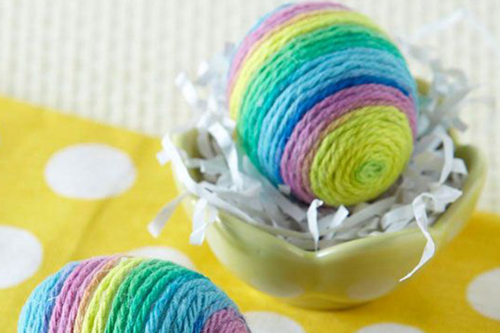 Wool Easter Egg Decorations