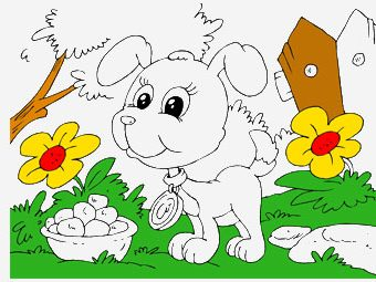 30 Cute Puppy Coloring Pages For Your Little Ones