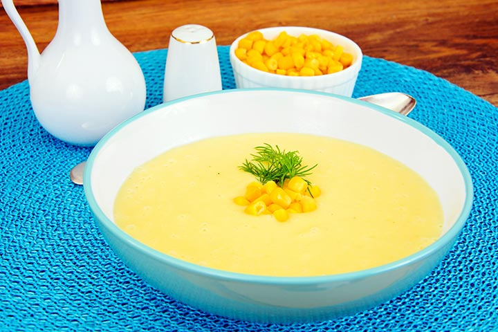 Corn and Cauliflower Puree