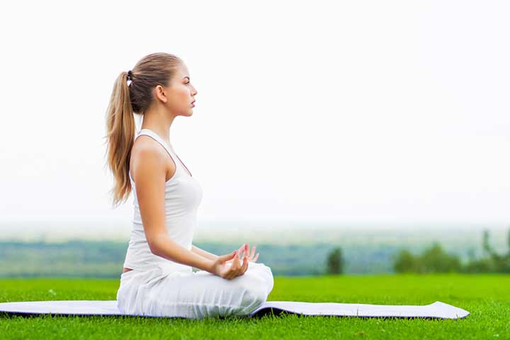 9. Relax the body and mind Outdoor yoga