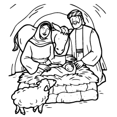 Jesus Born Pic to Color Free