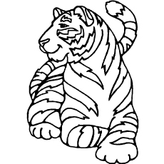 coloring pages of white tigers - photo#6