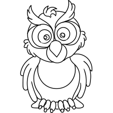 An Owl Angry Coloring Pages Free