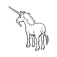 Free Printable Archaic Unicorn Coloring Pages