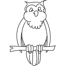 Archimedes Owl Coloring Pages