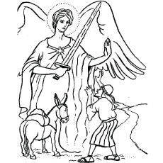 balak and balaam coloring page