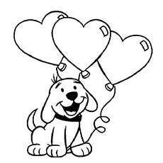 mothers day balloon to color free - Mothers Day Coloring Pages