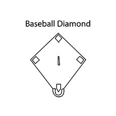 baseball diamonds 16 - Diamond Coloring Page