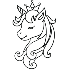 beautiful unicorn coloring pages - photo#41
