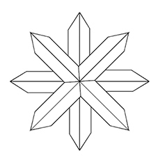 Bullet Snowflake Picture to Color Free