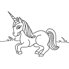 Cute Unicorn Colouring Pages