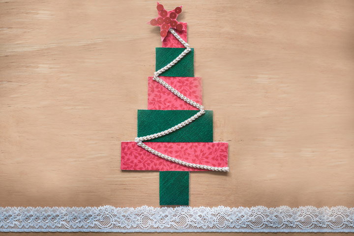 Christmas Activities For Toddlers - Chart Paper Strips Christmas Tree