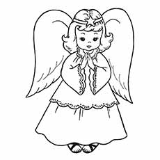 Nativity Coloring Pages Christmas Angel