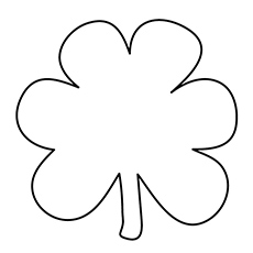 Clover Leaf Printable Coloring Page