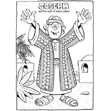 coat of many colors from the bible jesus created man coloring page - Bible Story Coloring Pages Joseph