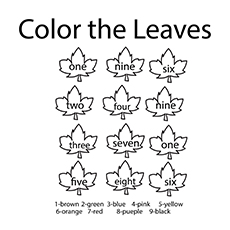 Color the Leaves By Number