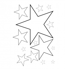 count how many stars are there coloring - Shooting Star Coloring Page