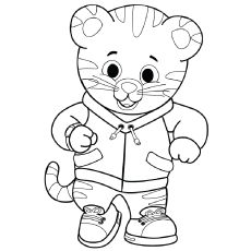 tiger daniel coloring pages