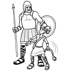 Story Of David And Goliath From Bible Picture To Color