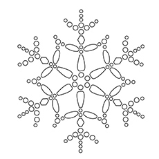 Coloring Picture of Dendrite Snowflake for Kids