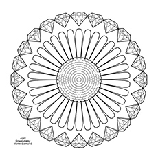 diamond coloring page diamond mandala