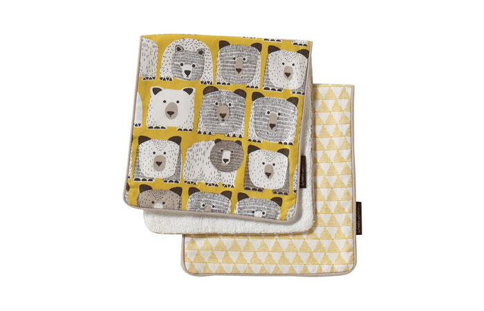 Dwell Studio 2 Pack Burp Cloth Set, Bears 5
