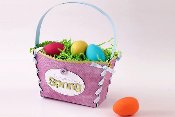 Easter Basket Using Junk