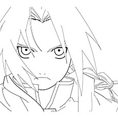 edward elric character of anime printable coloring pages