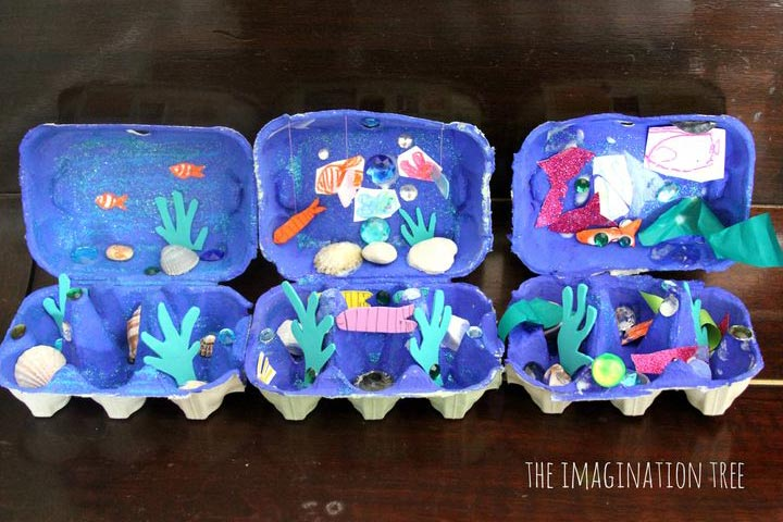 Egg Carton Ocean Box