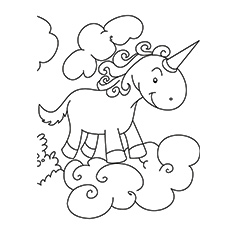 european unicorn coloring pages