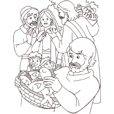 Jesus Feeding Of The 5000 From Bible Coloring Page