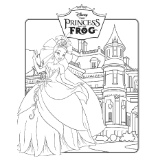 Free Printable Coloring Pages for Princess And The Frog Film Poster