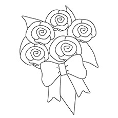bunch of flowers for mothers day to color - Mothers Day Coloring Pages Free