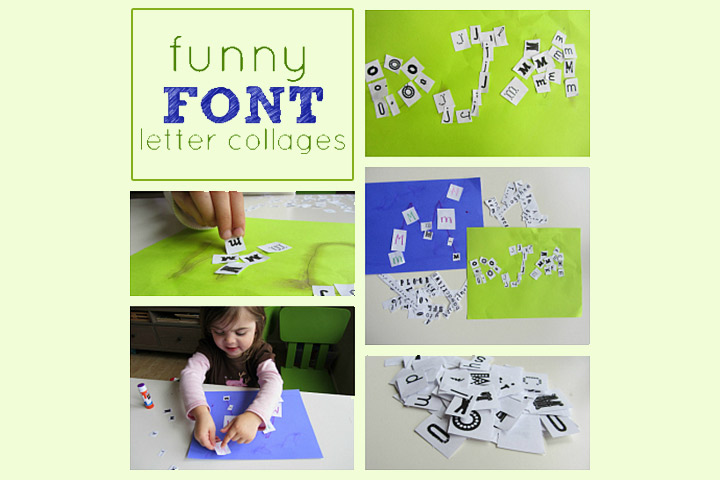 Funny Font Letter Collage