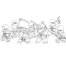Ninjago Gang Coloring Pages