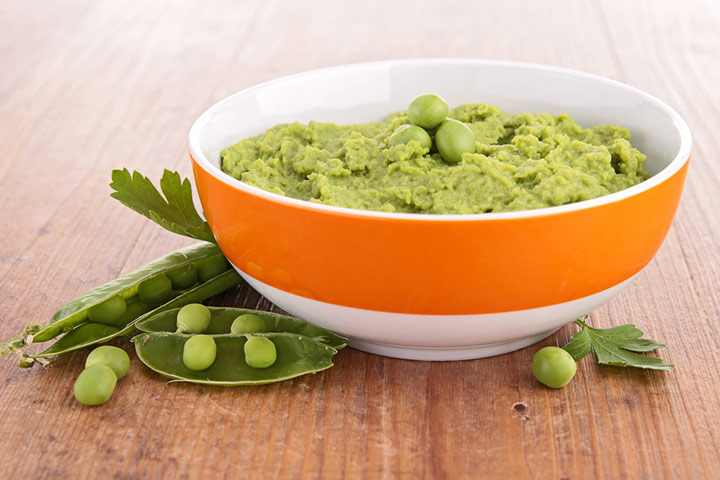 Green beans and peas puree