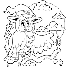 coloring pictures of a halloween owl cute halloween owl coloring pages