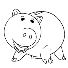 coloring page of hamm pig - Pig Coloring Pages